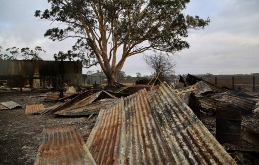 Keece – restoring power to some farms burnt out by Terang Bushfires.